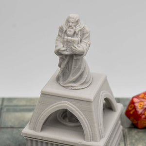 Light Up - Dwarven Cleric Statue - FDM Print - Fat Dragon Games