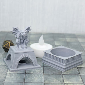 Light up - Gargoyle Statue - FDM Print - Fat Dragon Games