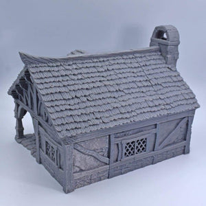Miniature Cottage - FDM Print - Black Scroll Games