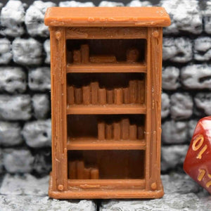 Miniature Furniture - Bookcase - FDM Print - Fat Dragon Games & EC3D / Heros Hoard