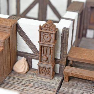Miniature Furniture - Clock - FDM Print - EC3D / Heros Hoard