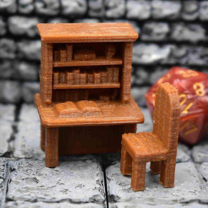 Miniature Furniture - Desk and Chair Set