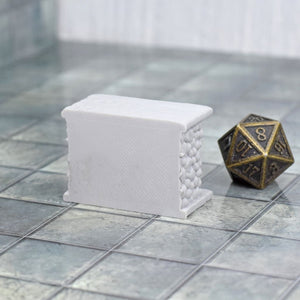 Miniature Furniture - Fireplace - FDM Print - Fat Dragon Games