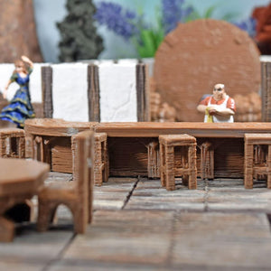 Miniature Furniture - Tavern Bar - FDM Print - Fat Dragon Games