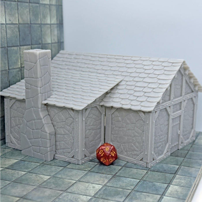 Miniature General Store Stone Building