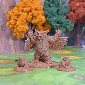 Miniature Owlbear - FDM Print - Fat Dragon Games