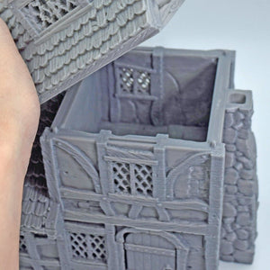 Miniature Small House - FDM Print - Black Scroll Games