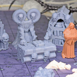 Necromancer Desk and Chair - FDM Print - Hayland Terrain