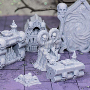 Necromancer Encounter Set - FDM Print - Hayland Terrain