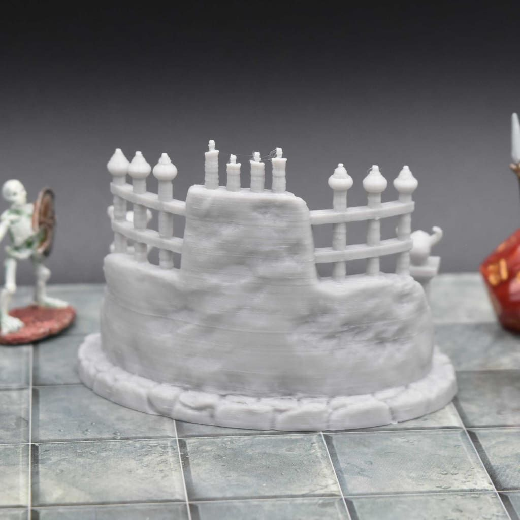 28mm Scatter Terrain Evil Scatter Terrain Occult and Evil Miniature Set for Dungeons and Dragon Terrain