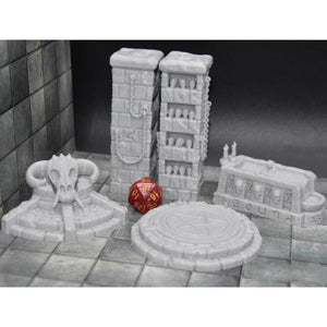 Occult and Evil Set - Demon Pedestal - FDM Print - EC3D / Heros Hoard
