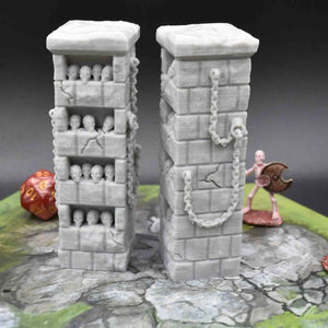 Occult and Evil Set - Evil Pillars - FDM Print - EC3D / Heros Hoard