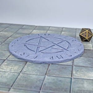 Large Magic Circle - Pentagram - Large Magic Circle - Pentagram - 3D Printed, Arcane & Magic, Dias, Fantasy, FDM Terrain, Magic, PLA