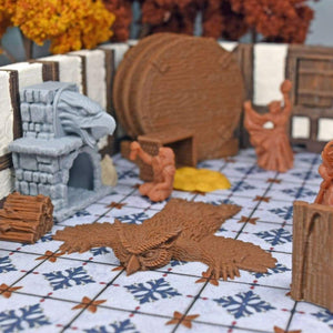 Owlbear Rug - FDM Print - Fat Dragon Games