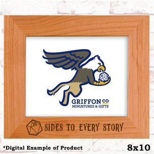 20 Sides to Every Story Picture Frame - 20 Sides to Every Story Picture Frame - GriffonCo 3D Printed Miniatures & Gifts - GriffonCo Gifts