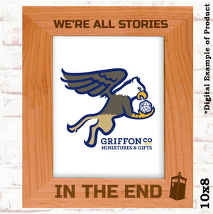 We're All Stories in the End Doctor Who Picture Frame - We're All Stories in the End Doctor Who Picture Frame - Alder Wood, Couples Therapy, Doctor Who, Gift, Graduation Party, Laser Engraved, Photo Frame, Pop Culture, TV