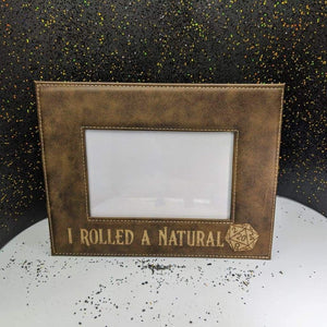 Picture Frame 4 x 6- Rustic and Gold - I Rolled a Natural 20 - Frames - GriffonCo