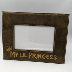 Picture Frame 4 x 6- Rustic and Gold - My Lil Princess - Frames - GriffonCo
