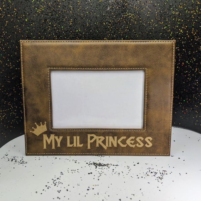 "Picture Frame 4x6""- Rustic and Gold - My Lil Princess"