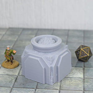 Pillar - Dwarven - Fire with no Flame - FDM Print - Hayland Terrain