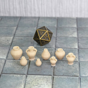 Egyptian Pottery - Egyptian Pottery - 3D Printed, Egyptian, Fantasy, FDM Terrain, Historical, Loot, Market, Market & Merchant, Modern, PLA, Scatter, Tavern, Tavern & Inn, Treasure, Treasure & Loot, Vae Victis, Village