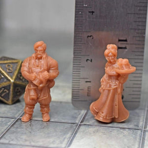 Resin Miniature - Barman & Barmaid - Resin Print - Vae Victis