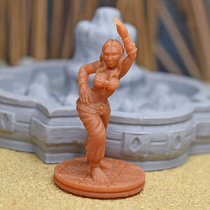 Resin Miniature - Gypsy Belly Dancer - Resin Print - EC3D / Heros Hoard
