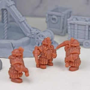 Resin Miniature - Dwarven Mining Company - Resin Print - Duncan Shadow