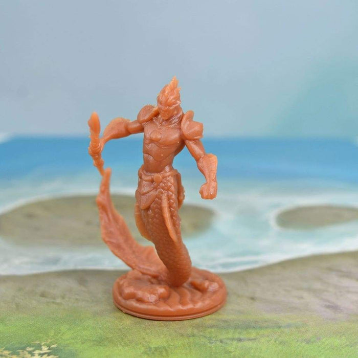 Resin Miniature - Merman Warrior