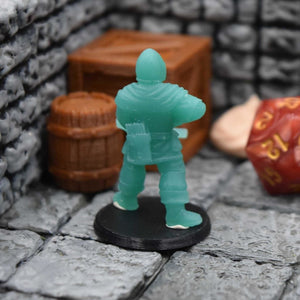 Resin Miniature - Town Guards Crossbowman at Ease - Resin Print - Duncan Shadow