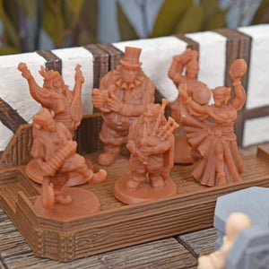 Resin Miniatures - Traveling Bard Set - Resin Print - Vae Victis