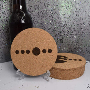 Round Cork Coaster Set - Pacman - Table Shield - GriffonCo