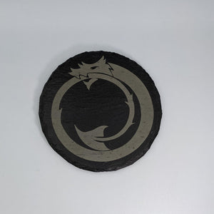Round Slate Coaster - Dragon Tail - Table Shield - GriffonCo