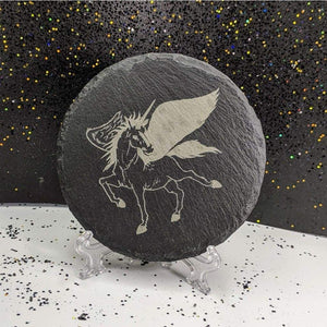 Coaster - Slate Round - Unicorn - Table Shield - GriffonCo