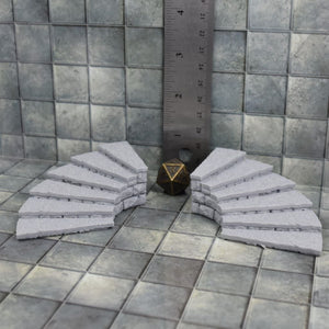 Round Staircase - FDM Print - Fat Dragon Games