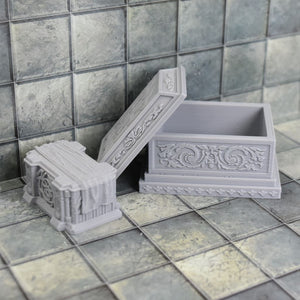 Sarcophagus Tomb and Altar - FDM Print - Fat Dragon Games