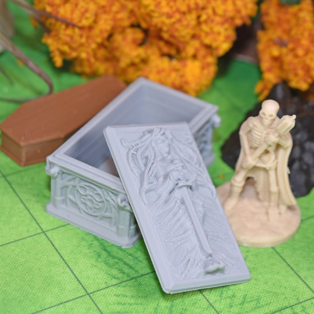 Tabletop Gaming Gaming Terrain DnD 28mm Dragonlock Heroine/'s Tomb Sarcophagus for Dungeons /& Dragons Dungeon Terrain
