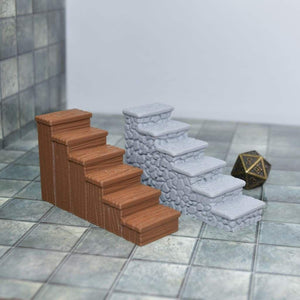 Set of Stairs - FDM Print - Fat Dragon Games
