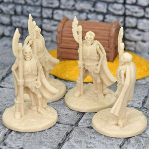 Skeleton Miniatures - Halberds - FDM Print - Fat Dragon Games