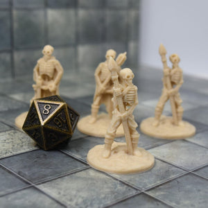Skeleton Miniatures - Set 1 - FDM Print - Fat Dragon Games