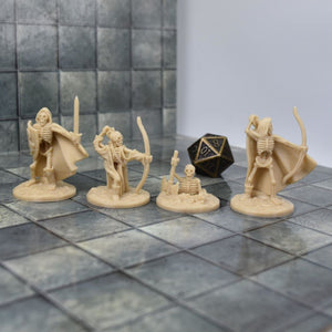 Skeleton Miniatures - Set 2 - FDM Print - Fat Dragon Games