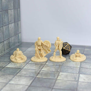 Skeleton Miniatures - Set 3 - FDM Print - Fat Dragon Games