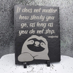 "8"" x 10"" Slate Plaque with Feet - Sloth - 8"" x 10"" Slate Plaque with Feet - Sloth - GriffonCo 3D Printed Miniatures & Gifts - GriffonCo Gifts"