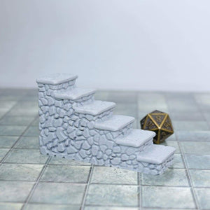 Stone Pattern Terrain stairs - FDM Print - Fat Dragon Games