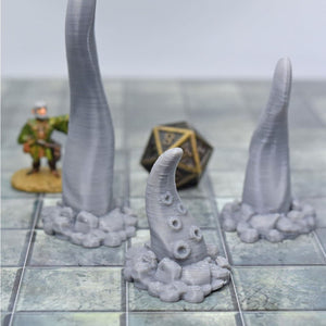 Tentacle Monster Set of 3 - FDM Print - Fat Dragon Games