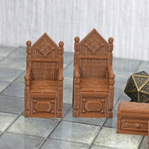 Throne Room - Throne Room - 3D Printed, Fantasy, FDM Terrain, Noble, PLA, Vae Victis, Village