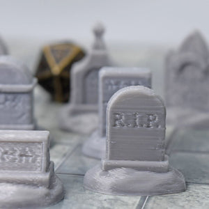 Tombstone Gravestone Set - FDM Print - Fat Dragon Games