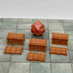 Treasure Chests - FDM Print - Fat Dragon Games
