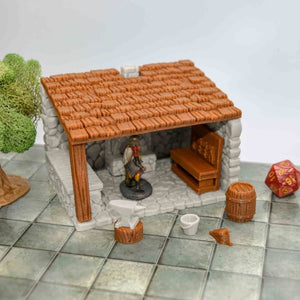 Village - Blacksmith Shop - FDM Print - Fat Dragon Games
