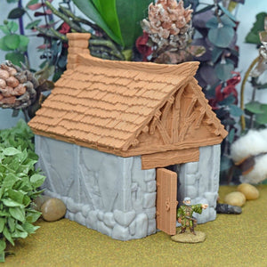 Village Cottage - Small - FDM Print - Black Scroll Games